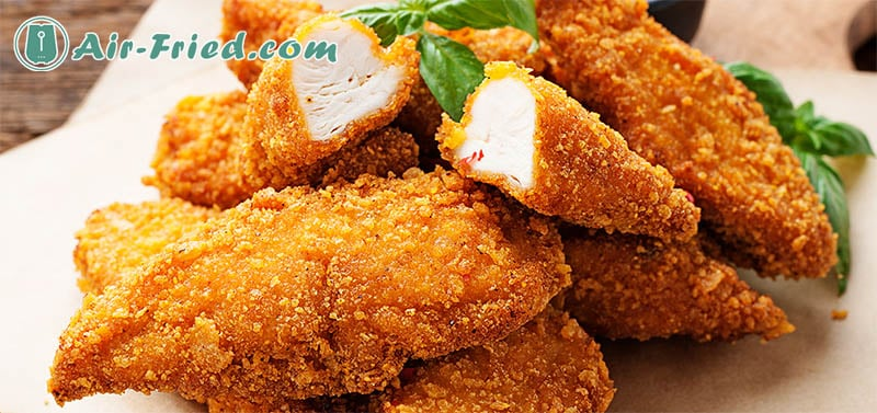 Crispy breaded chicken breasts