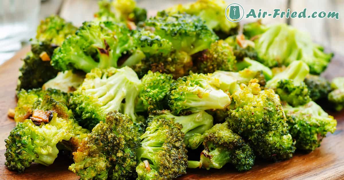 Roasted Broccoli in an Air Fryer with Cheese Sauce Recipe
