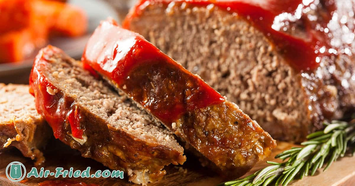 Air Fryer Meatloaf with Mashed Potatoes and Gravy Recipe