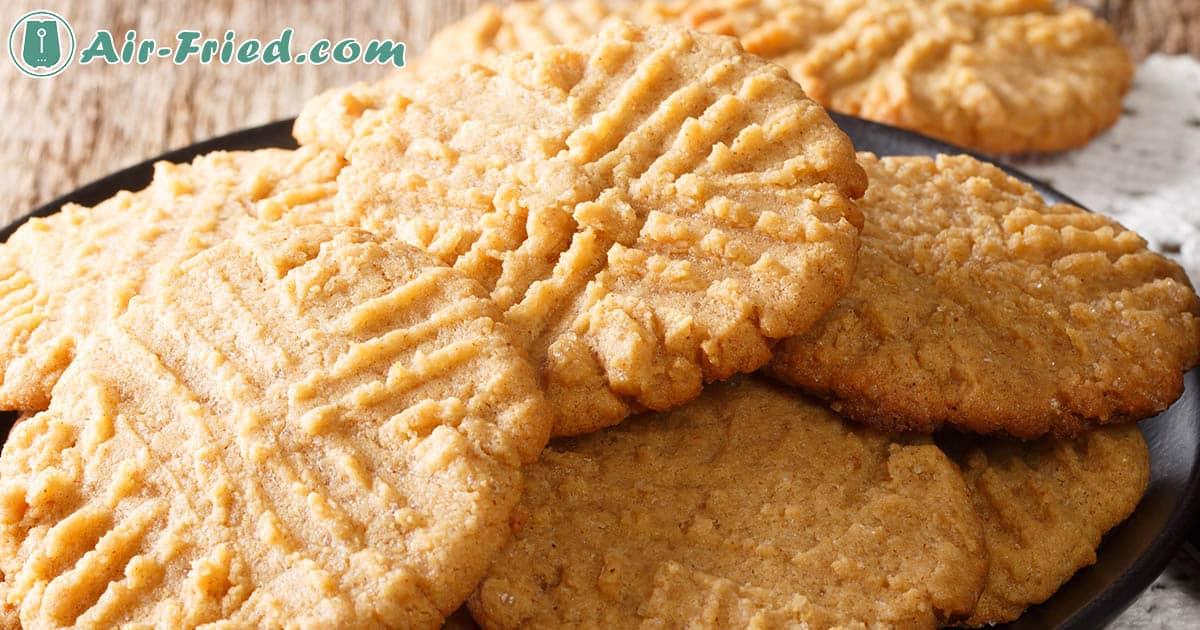 Peanut butter cookies on an air fryer