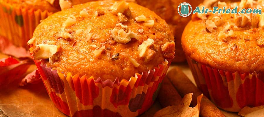 Pumpkin Muffins in an air fryer
