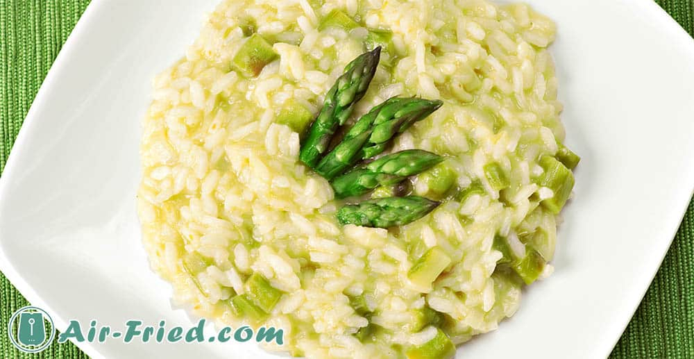Asparagus and rice