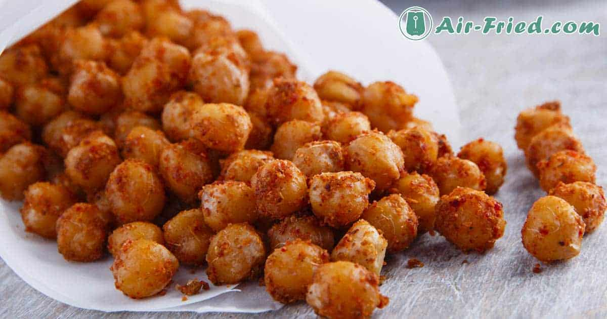 Air fryer chickpeas with chili seasoning