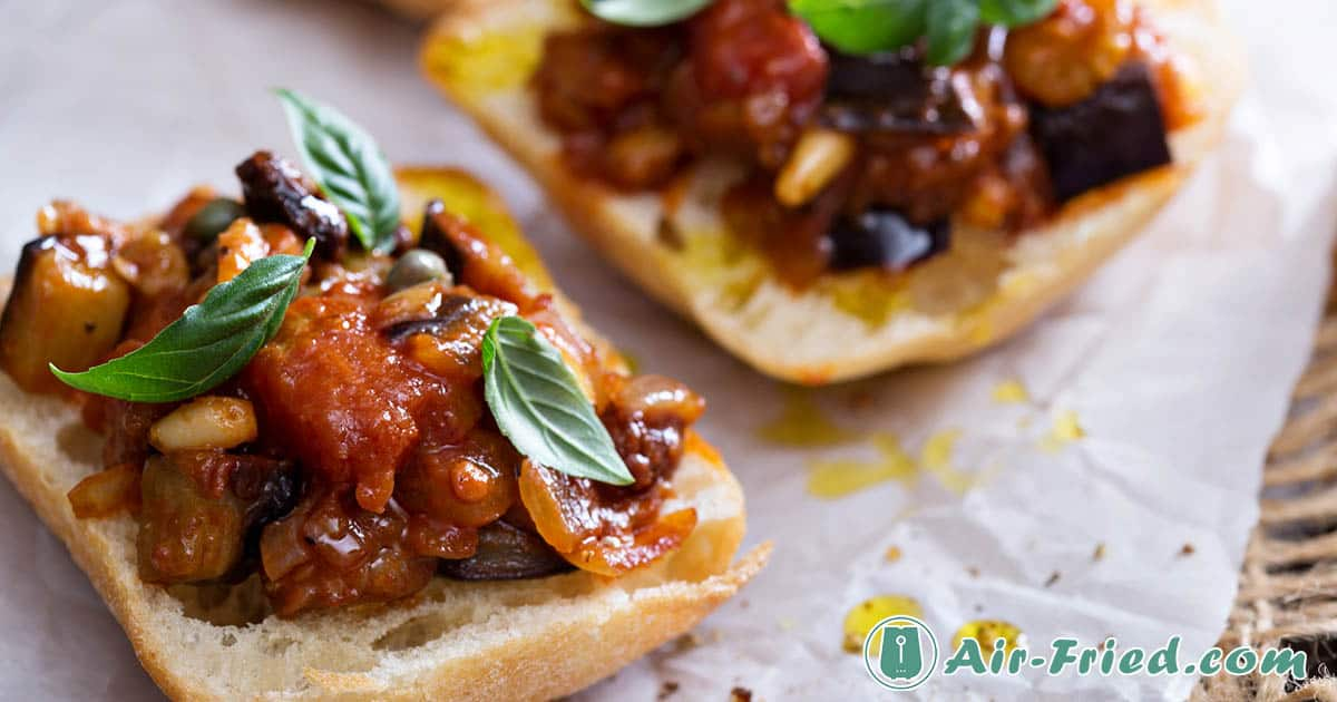 air fryer eggplant caponata