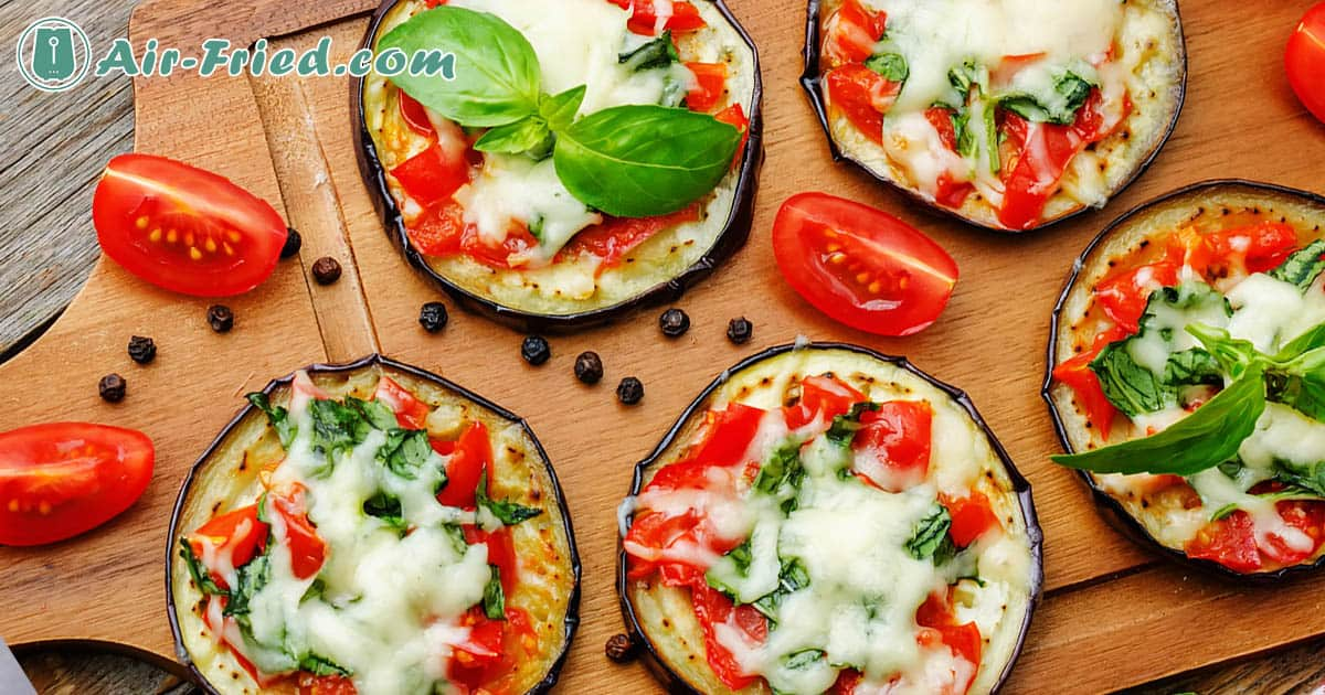 Eggplant pizza in air fryer