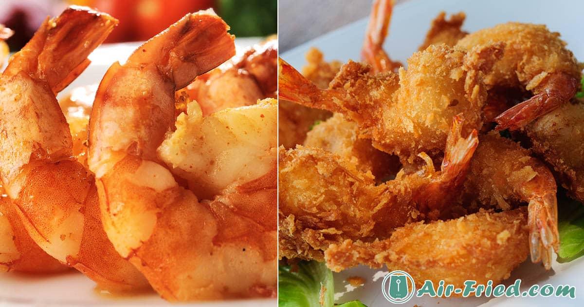 Classic Shrimp Prepared 3 Ways in an Air Fryer Recipe