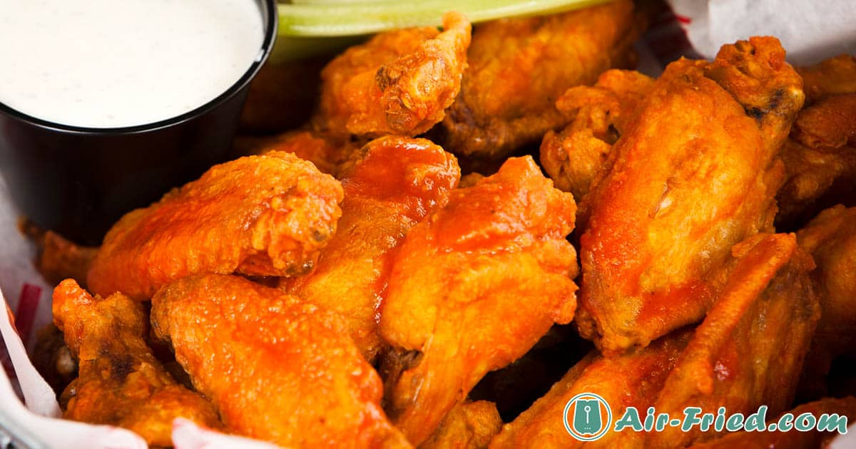 Buffalo Chicken Wings and Korean Style Chicken Wings in an Air Fryer Recipe