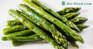 Easy air fried asparagus