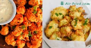 Air fried cauliflower wings and bites