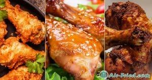 air fryer chicken drumsticks three ways