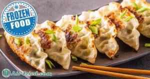 Frozen dumplings in an air fryer