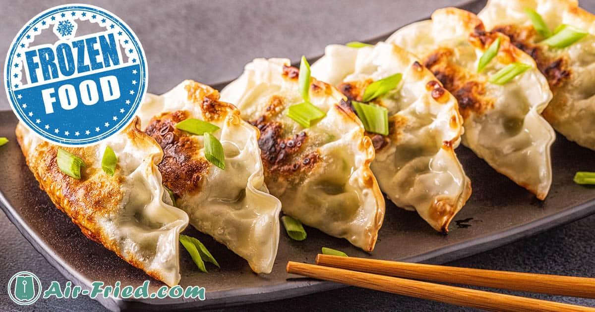 Air fryer Frozen Dumplings with Asian Dipping Sauce Recipe