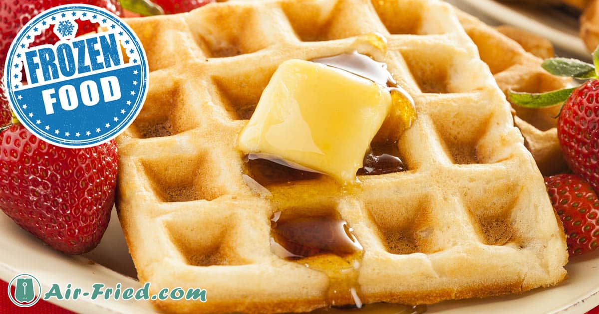 Frozen Waffles with Apple Butter in an Air Fryer Recipe