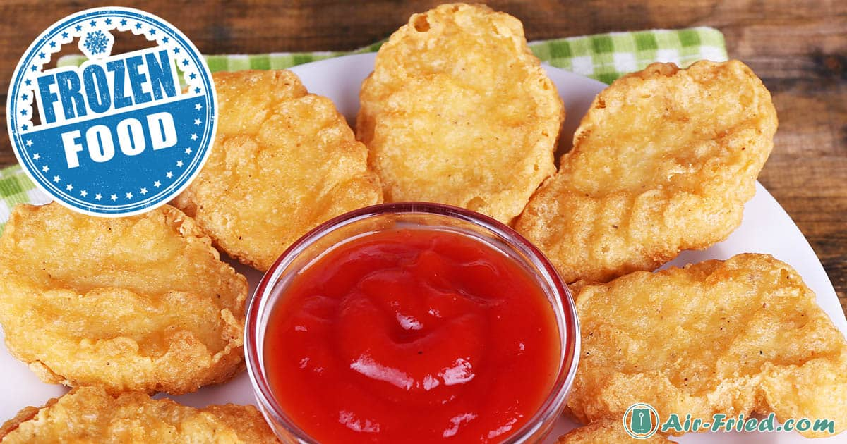 Crunchy Air Fryer Frozen Chicken Nuggets and 3 Dipping Sauces Recipe