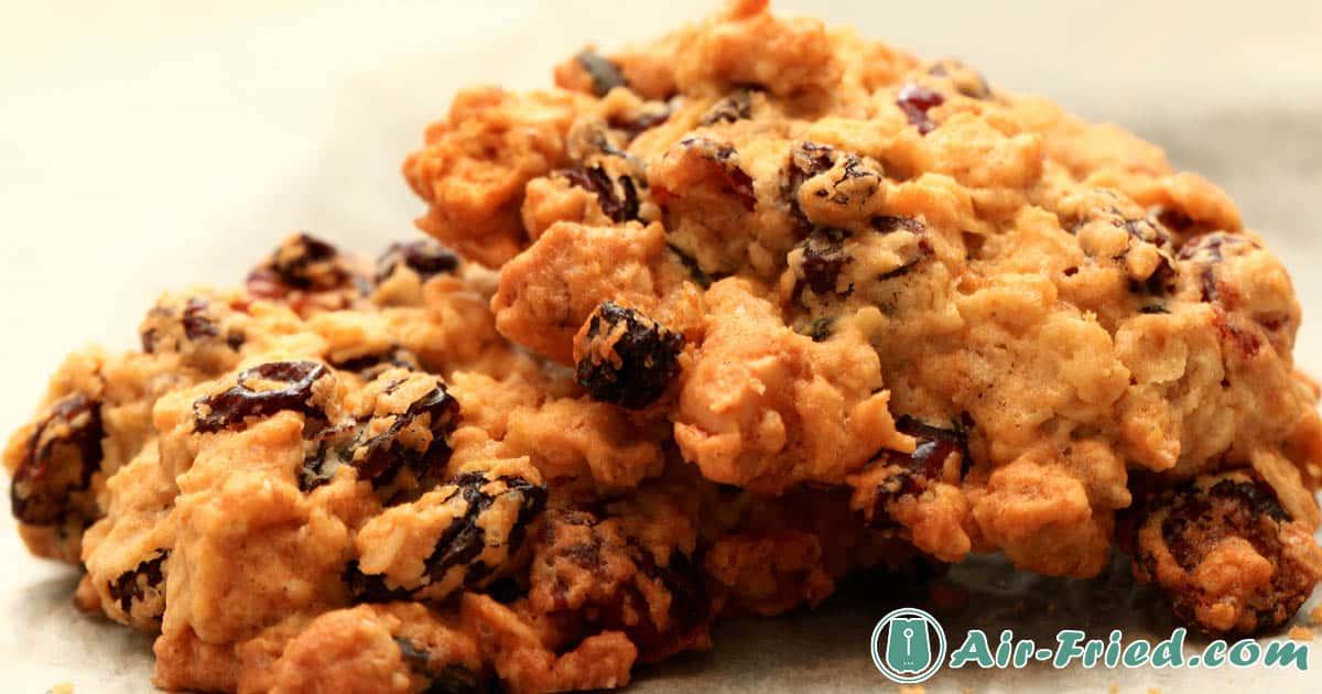 Air fryer oatmeal raisin cookies