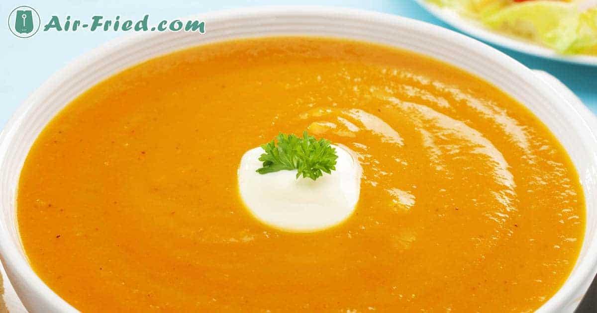 Air fryer sweet potato soup