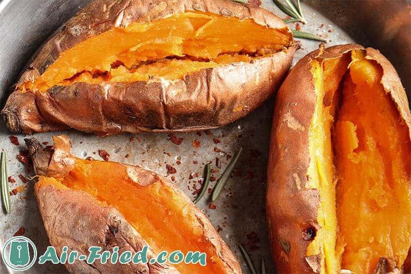 Whole sweet potatoes in air an air fryer